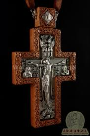 pectoral crosses russian orthodox priest pectoral cross award carved wooden