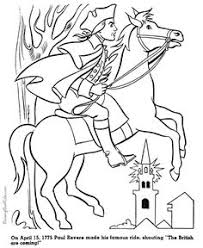 paul revere s ride book revolutionary war the ride of paul revere coloring page school
