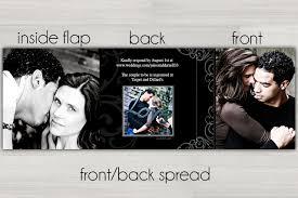 tri fold wedding invitations tri fold black and white wedding invitations photo card chef
