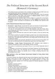 bismarckian political parties revision worksheet history