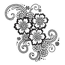 abstract henna mehndi flower ornament stock vector