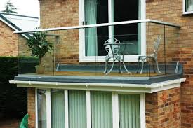 awesome balcony decoration for cool home together clear glass