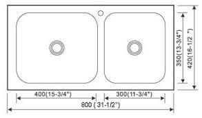 Kitchen Sink Dimensions - amazing of double sink kitchen size undermount kitchen sink