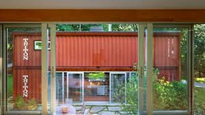 amazing shipping container homes with courtyard youtube
