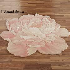 Round Pink Rugs by Juliette Round Flower Shaped Rugs
