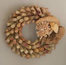 i wreath i made with wine corks find additional work of mine on