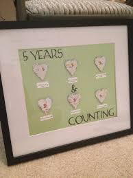 5 year wedding anniversary gift ideas best 25 5 year anniversary gift ideas on diy 5th