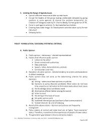 public policy formulation implementation u0026 evaluation