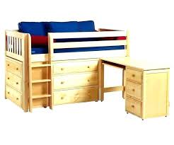dresser with desk attached full size low loft bed with desk attached for decor 11 damescaucus com