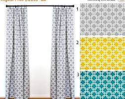 Draperies Window Treatments Turquoise Curtains Etsy