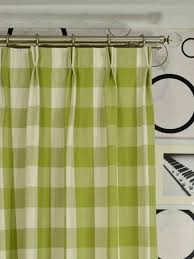 moonbay checks double pinch pleat cotton extra long curtain 108
