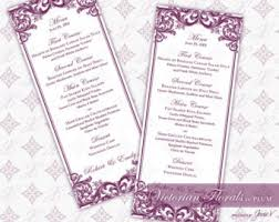diy printable wedding menu template printable menu tea length
