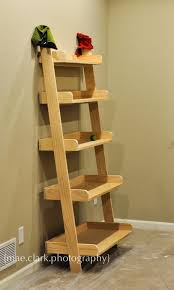 Tiered Bookshelves by Ana White Leaning Wall Shelf Diy Projects Inside Leaning