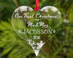 first christmas ornament married etsy uk