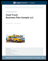 food truck business plan sample legal templates