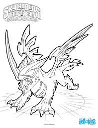 coloring pages of skylanders superchargers swap force blast zone