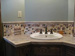 Decorative Kitchen Backsplash Tiled Kitchen Backsplash With Handmade Decorative Relief Barnyard