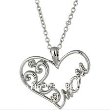 s day charm necklace fashion white heart charm necklace s day