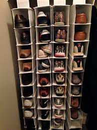 simple diy shoe rack storage behind the door for small and narrow