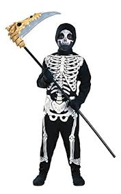 Halloween Skeleton Kids Halloween Skeleton Costume Amazon Co Uk Toys U0026 Games