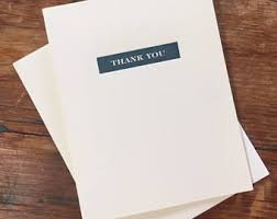 thank you note card etsy