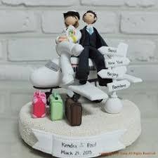 wedding cake toppers theme travel themed wedding cake topper emmaline wedding