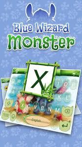blue wizard monster theme emoji keyboard 3 1 apk androidappsapk co