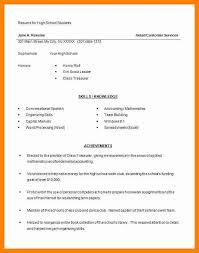 exle resume templates unique high school resume template microsoft word 10 microsoft