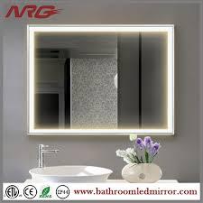 Led Bathroom Mirror by Led Bathroom Mirror With Digital Clock Led Bathroom Mirror With