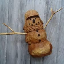 wooden snowman best wood snowman decoration products on wanelo