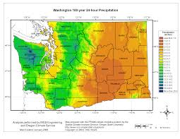 State Map Of Oregon by Mgs Engineering Consultants Inc Precipitation