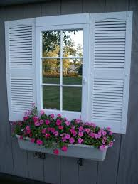 Window Flower Boxes Best Two With Shutters And Wrought Iron Window Boxes Or Picture Of