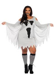 plus size womens costumes women s plus size jersey ghost costume costumes