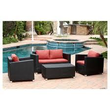 Cameron Piece Outdoor Wicker Sofa Set  Target - Wicker sofa sets