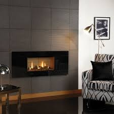 gazco studio 1 gas fire with black glass front