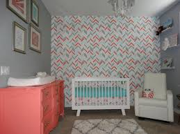 noelle u0027s coral aqua and gray nursery with gold accents project
