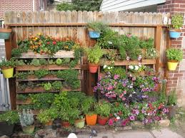 Ideas For Herb Garden Pallet Herb Garden Ideas Shelves Pots Colorful Flowers Herbs