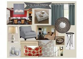 Red Blue And Grey Living Rooms Alamode Designing Around A Red Dining Room Edesign Client