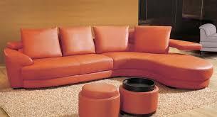 Orange Leather Sectional Sofa Orange Sectional Sofa Set Tos Lf 8333
