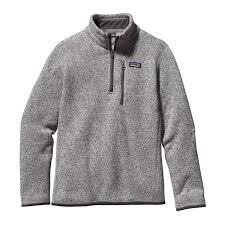 boys sweater patagonia boys better sweater quarter zip fleece