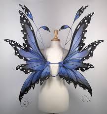 wings in blue morpho butterfly pattern by glittrrgrrl on