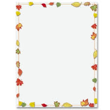 7 images fall leaves border paper printable thanksgiving