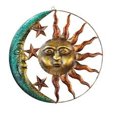 amazon com artistic sun and moon metal wall art for indoor or