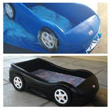 bedroom little tikes blue car toddler bed batman car bed