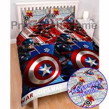 Captain America Bedroom by Marvel Captain America Civil War Double Duvet Cover Set Free
