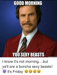 Sexy Friday Memes - good morning you sexy beasts memetogo com i know it s not