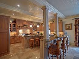 kitchen island columns traditional kitchen with columns crown molding in colts neck nj