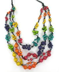 coloured bead necklace images Multi coloured wooden bead necklace unusual jewellery ella belle jpg