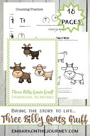 three billy goats gruff printables and activities embark on the