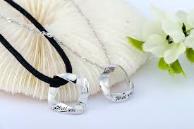 round pendants necklace images 925 sterling couple lovers round rhombus pendant necklaces jpg